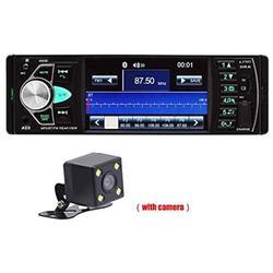 Black Car Bluetooth MP5 Player 4.1 Inch HD Bluetooth Handsfree Car MP5 Player Audio Car FM Radio Audio Stereo Car Video Player+HD Camera USB Remote Control AUX Vehicle Audio Auto Stereo Car Radio