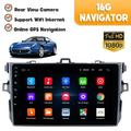 VONTER Car Stereo Android 9.1 Navigation Stereo for Toyota Corolla 2006-2012 Car Stereo Radio 9.1'' HD Touch Screen 1G 16G GPS Navigation WiFi Bluetooth FM Radio USB Mirror Link