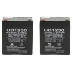 UB1250 SLA Battery 12 Volt 5 AMP Hours - 2 Pack, 12 Volt 5 aH Sealed Lead Acid Battery By Universal Power Group