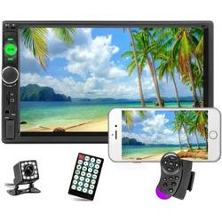 """""""Car Stereo 2 Din Car Radio 7"""""""" HD Player MP5 Touch Screen Digital Display Bluetooth Multimedia USB/SD/Aux-in Double Din Autoradio Mobile Phone Interconnection with 12 LED Car Backup Camera"""""""
