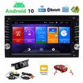 EINCAR Android 10.0 Car Stereo Double Din Touch Screen Radio Bluetooth CD Player For Car 6.2 inch in-Dash AM FM Radio Receiver MP5 Player, Support GPS, Rear View Camera, Steering Wheel Controls
