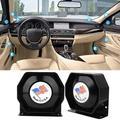 OTVIAP 1pcs KX-6000B Ultra Slim Car Tweeter High Tone Speaker Loudspeaker Emergency Horn, Car Emergency Speaker, Car Loudspeaker