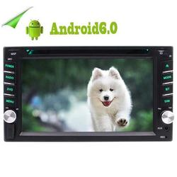 Android 6.0 OS Double DIN 2DIN 6.2 Inch Car Stereo GPS Navigation Car DVD Player Capacitive Touch Screen Bluetooth WIFI 4G FM/AM RDS Radio Media Player HD 1080P Video Screen Mirror SWC