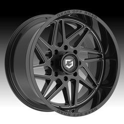 Gear Off Road 761BM Ratio Gloss Black Milled 22x10 8x180 -19mm (761BM-2208919)
