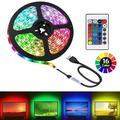 USB LED Strip Light,24 Key Mini Remote Control Multicolor RGB Home LED Tape Light Strip for TV Backlight