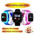 Montre connectée Q90 pour enfants, bracelet pour enfants, avec appels SOS, GPS, wi-fi, localisation,