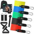 Resistance Bands Set, 150lbs Workout Bands Stackable Exercise Bands Workout Resistance Band for Men Women with Door Anchor, Resistance Bands with Handles for Home Workouts Training Physical Thera