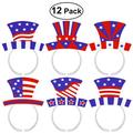 TINKSKY 12PCS Independence Day July 4th American Flag Aluminum Foil Headband Party Accessories