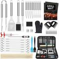45PCS BBQ Grill Accessories Grill Tools Set, Grill Utensils Set Stainless Steel BBQ Tools Set for Smoker Camping Kitchen, Grill Set BBQ Accessories for Men, Women, Dad