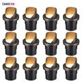 LEONLITE 12-Pack 6W LED Well Light, 12-24V Low Voltage Shielded In-Ground Lighting, 3000K Warm White, UL Listed Cable, IP67 Waterproof Landscape lights for Yard, Garden, Patio, 50,000hrs Lifespan
