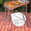 Oaktree-Barbecue BBQ Charcoal Grill BBQ Camping Grill Charcoal Grills Portable BBQ Stainless Steel Folding BBQ Camping Grill