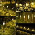 Solar Lights Outdoor, 24Pack solar pathway lights outdoor, Waterproof, LED Landscape garden lights Solar Powered, Outdoor Lights Solar Garden Lights for Pathway, Walkway, Patio, Yard, Driveway