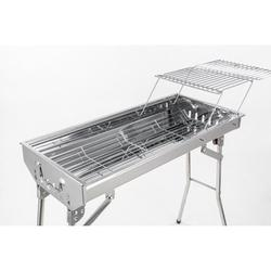 Fire Charcoal Grills Portable BBQ - Stainless Steel Folding BBQ Camping Grill Large Portable Camping Cooking for Travel Grill Outdoor