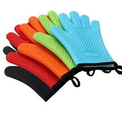 Oven Gloves,Silicone Heat Resistant Bbq Gloves,Waterproof Kitchen Non-Slip Gloves,Oven Mitts, Perfect For Cooking Baking Charcoal Pizza And Barbecue Gril
