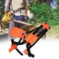 Kritne Lawn Mower Nylon Belt, Brush Cutter Shoulder Strap,Trimmer Shoulder Strap Double Shoulder Harness Brush Cutter Lawn Mower Nylon Belt for Garden