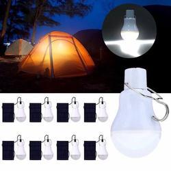 VicTsing 15W Solar Lights, Solar Powered Led Light Bulb Portable Led Solar Lamp Spotlight with Solar Panel for Outdoor Hiking Camping Tent Fishing Lighting (8 Pcs)