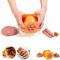 One Press Cevapcici Sausages Maker-7 Sausages In One Press - Non Stick Kitchen Barbecue Grilling Party Molds for Easily Making Delicious Stuffed Sausages Hot Dog-BBQ Grill Accessories-Easy to Use