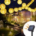 Solar Light LED Lantern String Lights Ball 20 LED Solar Garland Outdoor Fairy Lights Christmas Lighting for Garden Decoration
