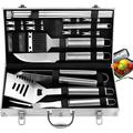 20pc Complete Grill Accessories Kit with Cooler Bag - The Very Best Grill Gift on Birthday Wedding - Professional BBQ Accessories Set with Case for Outdoor Camping Grilling Smoking