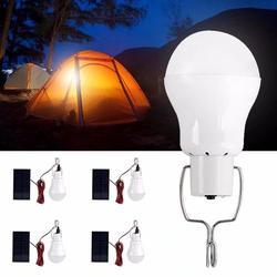 VicTsing Solar Lights, Solar Powered Led Light Bulb Portable Led Solar Lamp Spotlight with Solar Panel for Outdoor Hiking Camping Tent Fishing Lighting (4 Pcs)