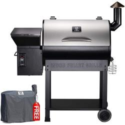 Z GRILLS ZPG-7002E 2020 Upgrade Wood Pellet Grill & Smoker, 8 in 1 BBQ Grill Auto Temperature Control, inch Cooking Area, 700 sq in Stainless