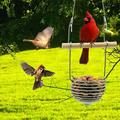 Mnycxen Bird Feeder Hanging for Garden Yard Decoration Shaped With Roof Outside Garden