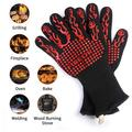"""Heat Resistant Grill Gloves 1472℉ Extreme Heat Resistant, 13"""" Extreme Kitchen Cooking Oven Mitts, Oven Gloves for BBQ, Cooking, Baking, Fireplace and for Smoker (1 Pair)"""
