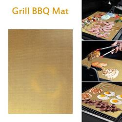 Grill Barbecue Mat Nonstick BBQ Grill Mat Heat Resistant Grill Sheet Perfect for Electric Oven Grill Barbecue