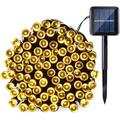 QiShi Solar String Lights 39ft 100 LED 8 Modes Outdoor String Lights Waterproof Fairy Lights for Garden, Patio, Fence, Balcony, Outdoors (Warm White)