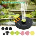 ODOMY Solar Fountain Pump,3W Upgraded Lotus Leaf-Shaped Solar Fountain Water Pump Outdoor Floating Solar Powered Water Fountain with 9 Nozzles for Pond, Fountain, Bird Bath