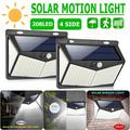 2 PACK 208 LED Solar Powered Super Bright Motion Sensor Outdoor Security Light for Front Door, Backyard, Patio, Garden, Driveway, Wide Angle Reach With 208 LED on Both Side