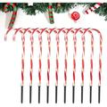 """Christmas Candy Cane Pathway Lights: 10 Pack 28"""" (Include Stakes) Lighted Candy Cane Christmas Decorations, UL Listed for Outdoor Indoor Holiday Xmas Lawn Yard Walkway Markers"""