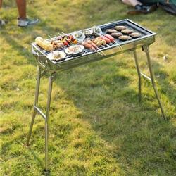 Vingtank Charcoal Grill grills Portable BBQ - Stainless Steel Folding BBQ Camping Grill Large Grill Shish Kabob Portable Camping Cooking for Travel Grill Outdoor