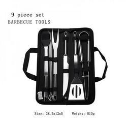 BBQ Tool Set Barbecue Set Barbecue Tool Barbecue Tool Set Barbecue Brush Barbecue Steel Spatula