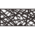 Metal Privacy Screen Fence, Metal Tree Metal Wall Art, Outdoor Indoor laser Cut Privacy Screen, Panel, Garden Screen, Restaurant Decor -4' H x 2'-Black 1pc