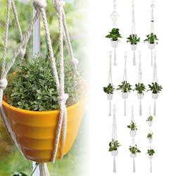 HOTBEST Macrame Plant Hangers, Rope Plant Hanger, Indoor Outdoor Hanging Planter Basket Cotton Rope for Flower Pot Patio Ceiling Plant Holder (A)