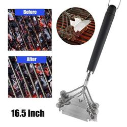 """16.5"""" inch Grill Brush and Scraper Bristle Free Stainless Steel Best BBQ Grill Brush 3 in 1 Barbecue Cleaner Safe BBQ Grill Brush for Any Types Grills BBQ Brush"""