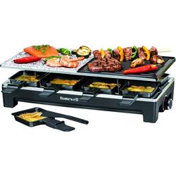 Homewell Portable Electric Raclette Tabletop Grill for Indoor Outdoor BBQ Grilling, 1500W