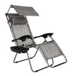 Lounge Chairs, Zero Gravity Lounge Patio Chair with Folding Canopy Shade, Durable Chairs Widened Folding Chair Leisure Chair for Poolside Outdoor Backyard Beach Garden Deck