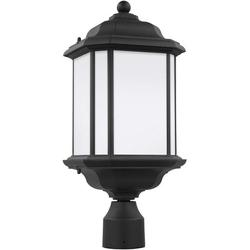 Sea Gull Lighting 82529-12 Kent One-Light Outdoor Post Lantern Outside Lighting, Black Finish, SOPHISTICATION AND DESIGN: Featured in the decorative Kent.., By Visit the Sea Gull Lighting Store