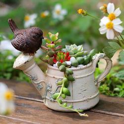 Garden Succulent Herb Planter Flower Basket Pot Trough Box Plant Home Decor Cute Planters Flower Pot Succulent Pots, Small Flower Pots Indoor Plant Pot Flower Pot