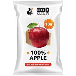 BBQPelletsOnline 100% Apple All Natural Amish-Made BBQ Pellets - 10 Pounds Perfect for Pellet Smokers, Any Outdoor Grill or Pizza Oven Hot and Strong Smokey Flavor