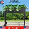 """Modern-Life Raised Garden Bed with Legs Outdoor Raised Planter Box on Wheels 40"""" L x 16"""" W x 31.5"""" H Elevated Garden Bed for Vegetable Flower Herb Patio"""