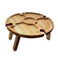 Wooden Outdoor Picnic Table, Portable Picnic Table, Wine Glass Rack, Portable Picnic Table, Wooden Outdoor Folding Wine Rack Picnic Table , Collapsible Table for Outdoors, Garden, Travel