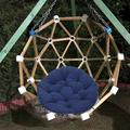 MLfire Garden Patio Hanging Chair Cushion Round Seat Pad Hammock Cover Mat Cotton