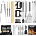 OlarHike BBQ Grill Accessories Set for Men Women, 29PCS Grilling Utensils Tools Set, Stainless Steel BBQ Gift Set with Spatula, Tongs, Grill Mat, Skewers, Grill Brush for Barbecue, Camping