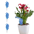 AIKEJANI Automatic Watering Spike Planter Drip Irrigation Household Plastic Self-Watering Plants Automatic Dripper Automatic Sprinkler 3pcs (Blue)