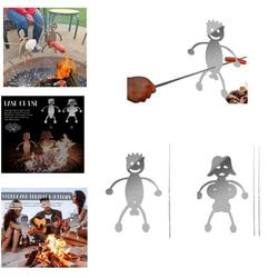 Steel Hot Dog/Marshmallow Roasters,Funny Metal Craft Barbecue Forks for Campfire,Bonfire and Grill