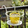 Savlot Railing Planter Hanging Baskets,Flower Pot Holder,Plant Railing Planter Over The Rail Metal Fence Planters For Indoor Outdoor