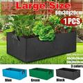 3 Sizes Raised Plant Bed Garden Flower Planter Elevated Vegetable Box Planting Grow Bag Fabric Garden Bed Rectangle Breathable Planting Container Grow Bag Planter Pot